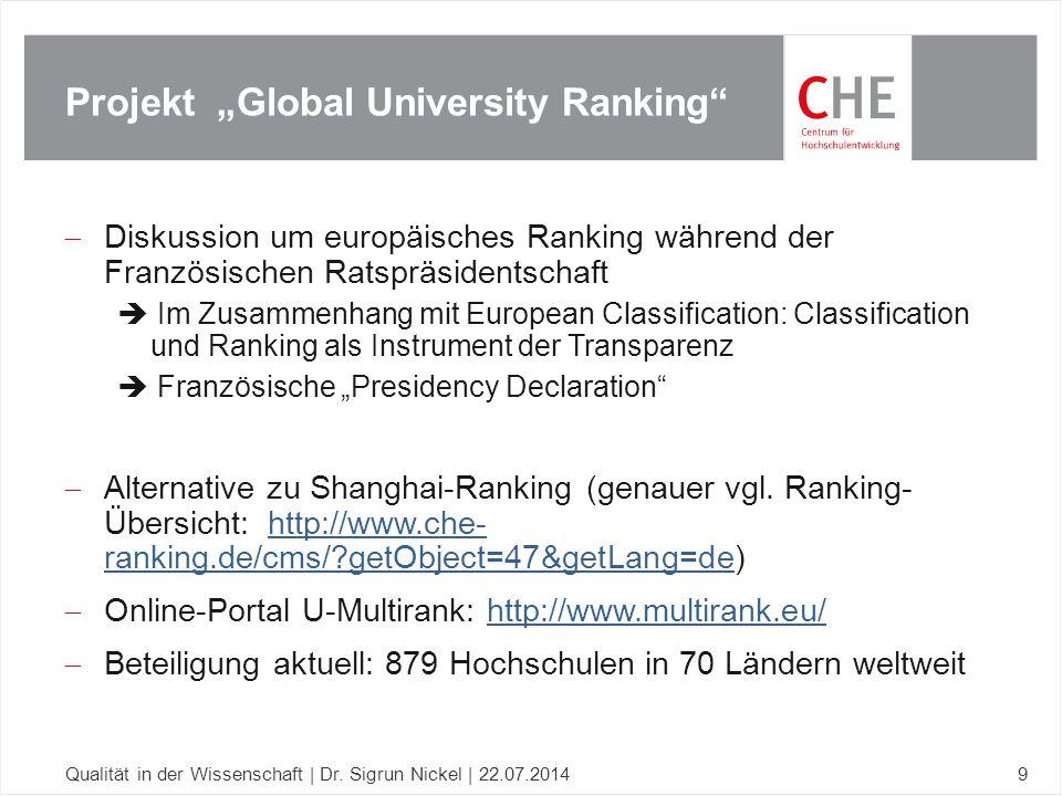 Beispiele Qualitätsindikatoren Studium und Lehre Qualität in der Wissenschaft | Dr.