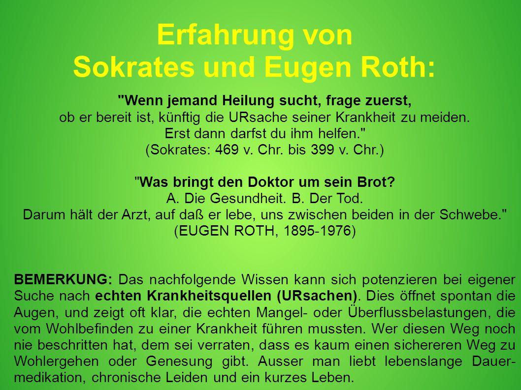 Erfahrung von Sokrates und Eugen Roth: