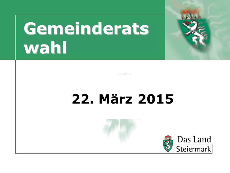 Gemeinderats wahl 22. März 2015