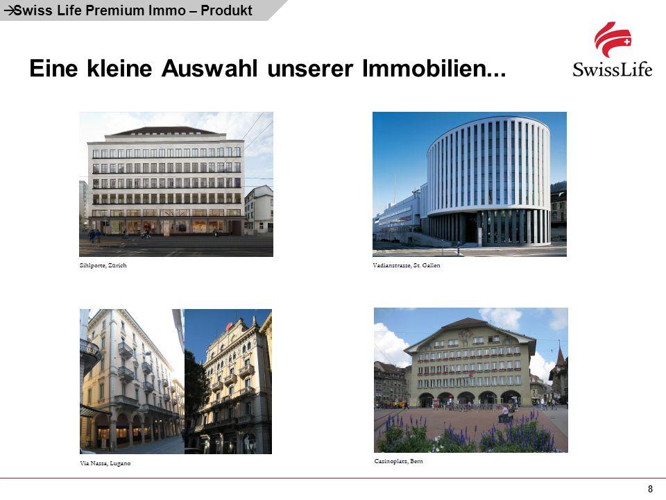8 Eine kleine Auswahl unserer Immobilien...  Swiss Life Premium Immo – Produkt