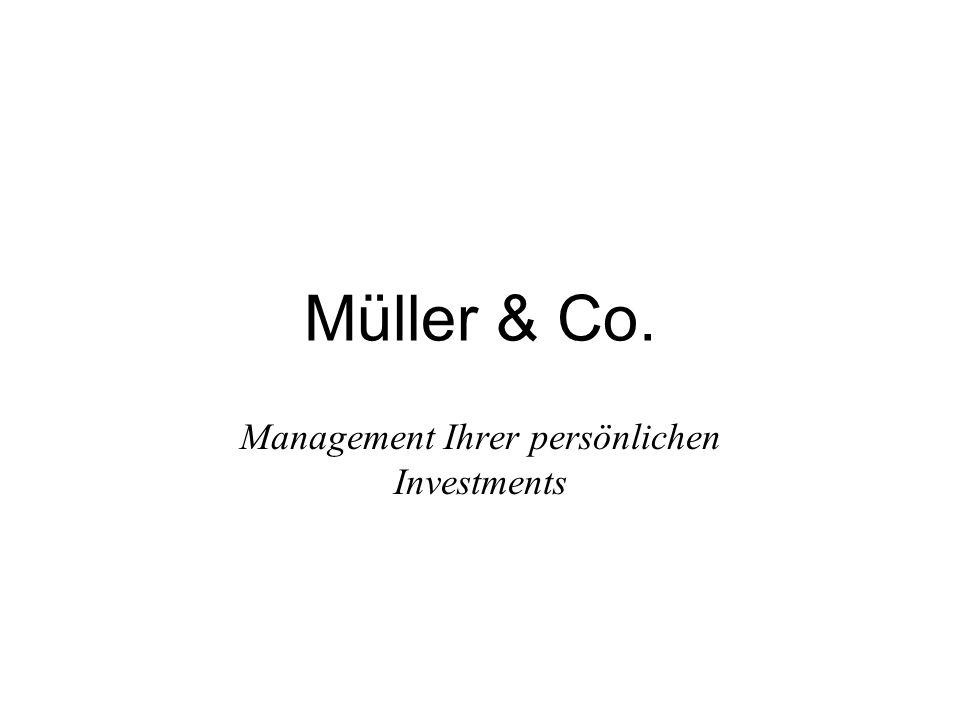 Über Müller & Co.Gegründet 1965 Verwaltet über 25 Mrd.