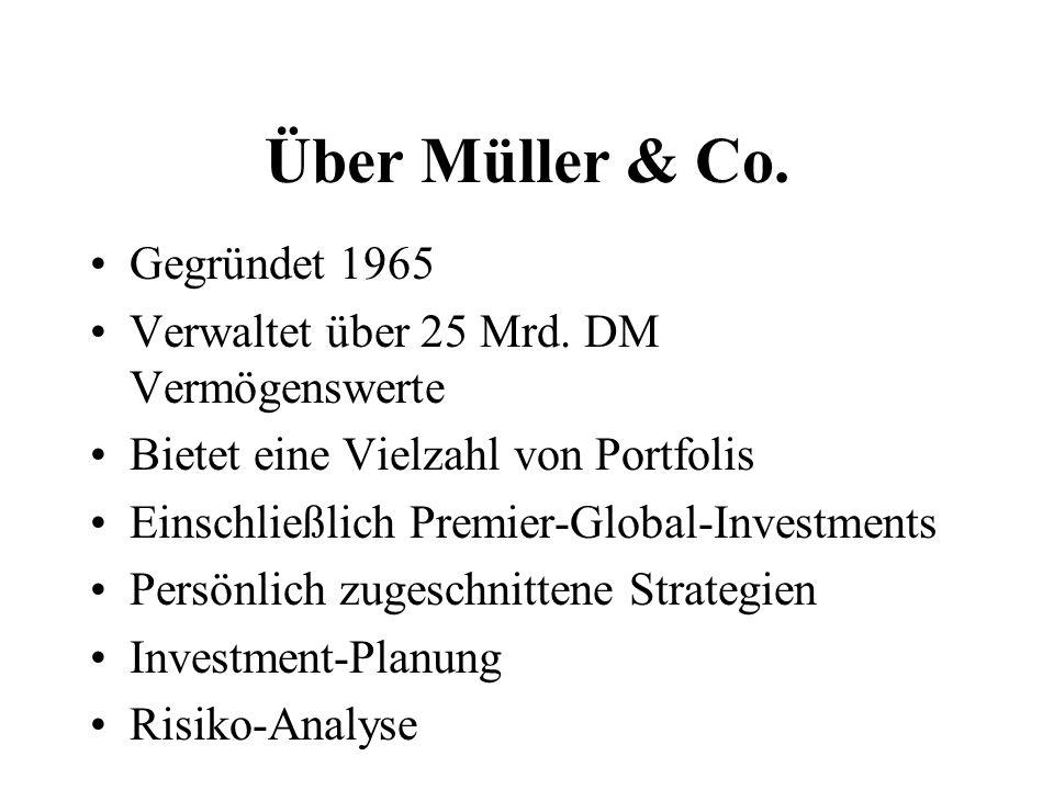 Über Müller & Co. Gegründet 1965 Verwaltet über 25 Mrd.