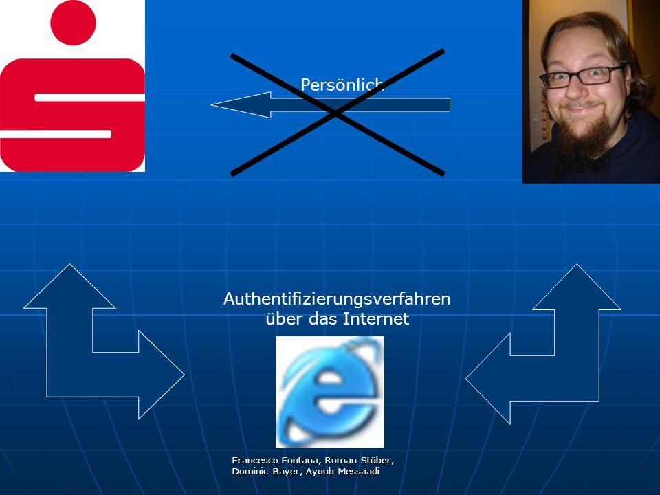 Francesco Fontana, Roman Stüber, Dominic Bayer, Ayoub Messaadi Persönlich Authentifizierungsverfahren über das Internet