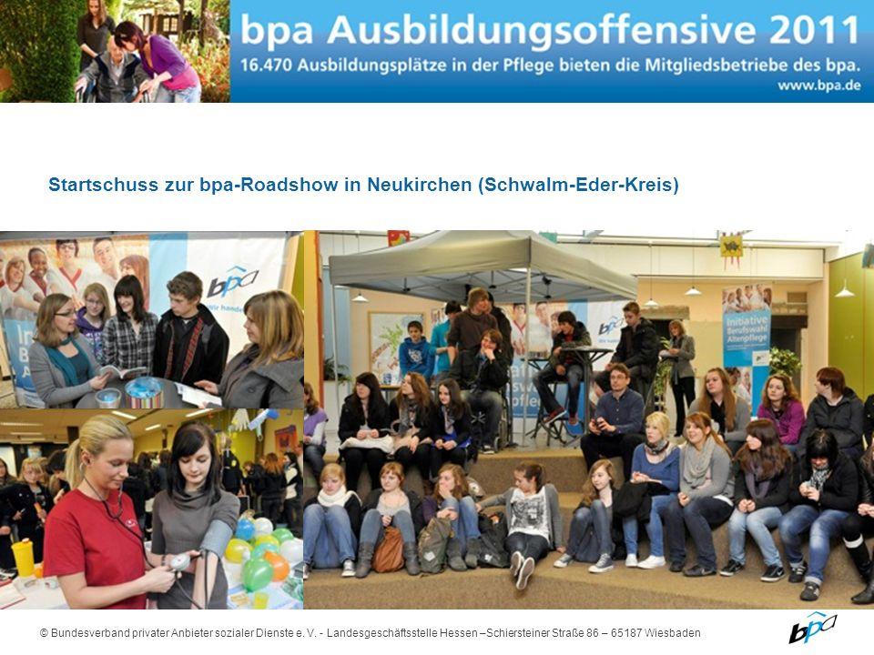Startschuss zur bpa-Roadshow in Neukirchen (Schwalm-Eder-Kreis)