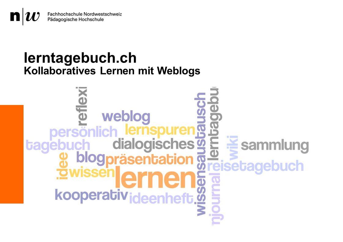 lerntagebuch.ch Kollaboratives Lernen mit Weblogs