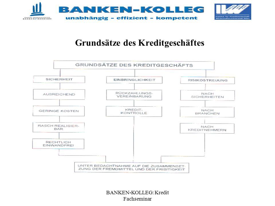 BANKEN-KOLLEG: Kredit Fachseminar Grundsätze des Kreditgeschäftes