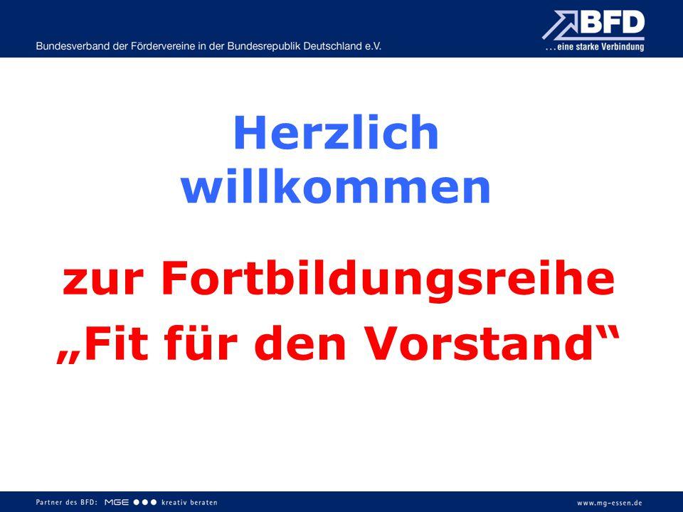 """Herzlich willkommen zur Fortbildungsreihe """"Fit für den Vorstand"""""""