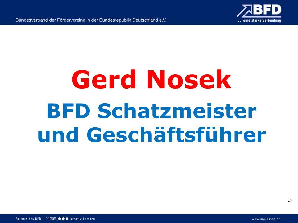 19 Gerd Nosek BFD Schatzmeister und Geschäftsführer