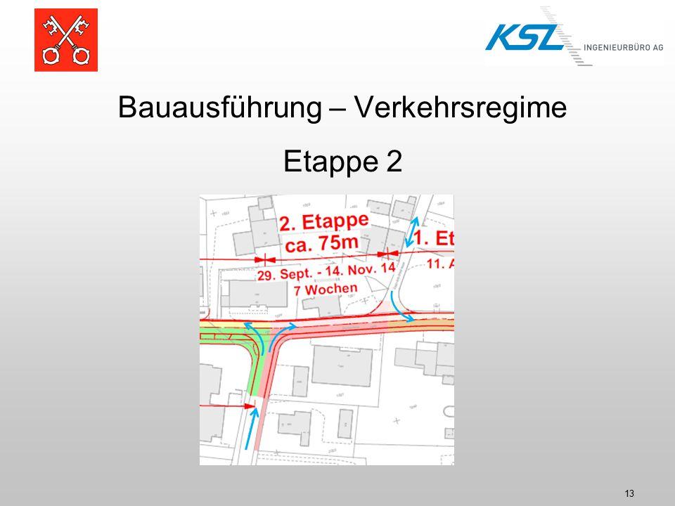 13 Bauausführung – Verkehrsregime Etappe 2