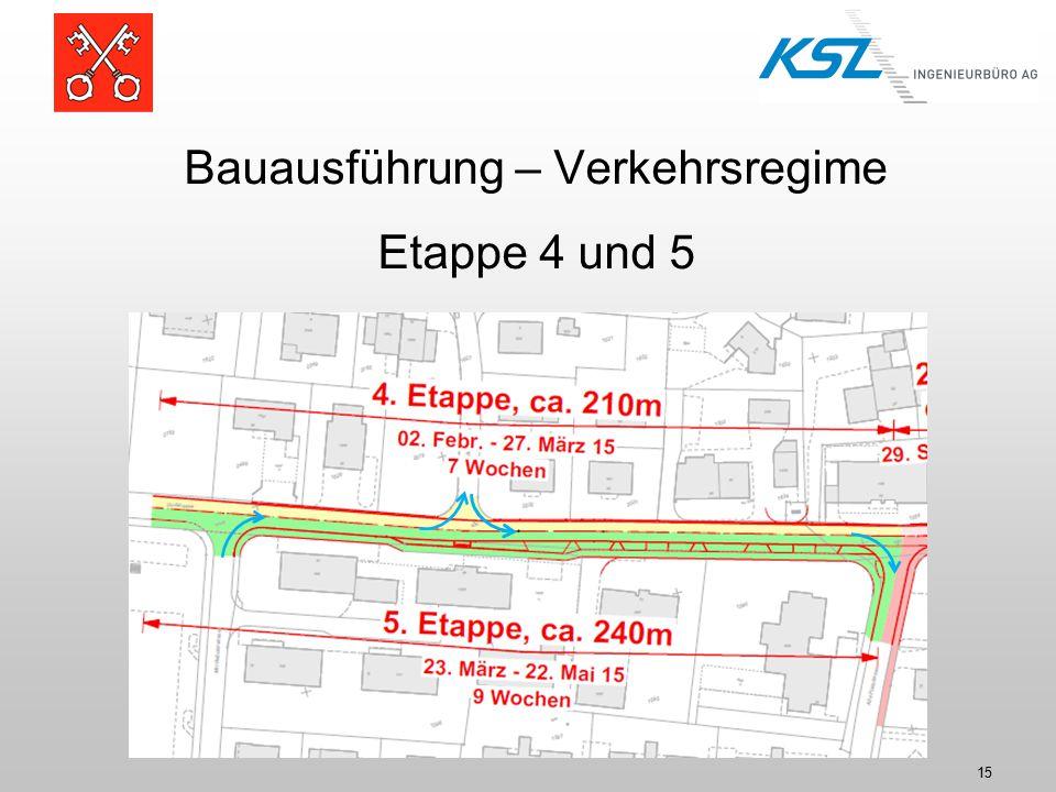 15 Bauausführung – Verkehrsregime Etappe 4 und 5