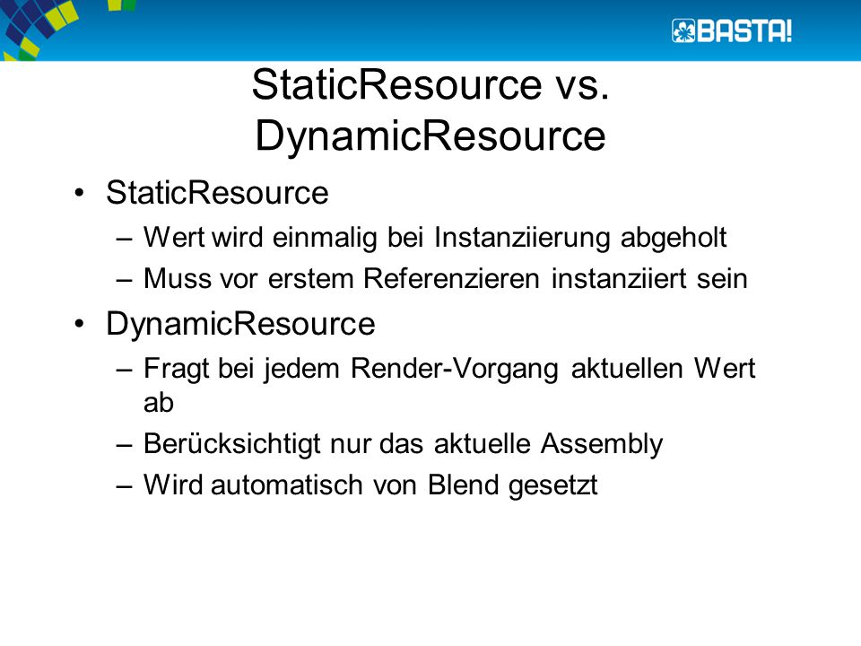 StaticResource vs.