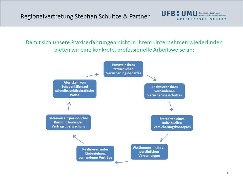 3 Regionalvertretung Stephan Schultze & Partner Damit sich unsere Praxiserfahrungen nicht in Ihrem Unternehmen wiederfinden bieten wir eine konkrete,