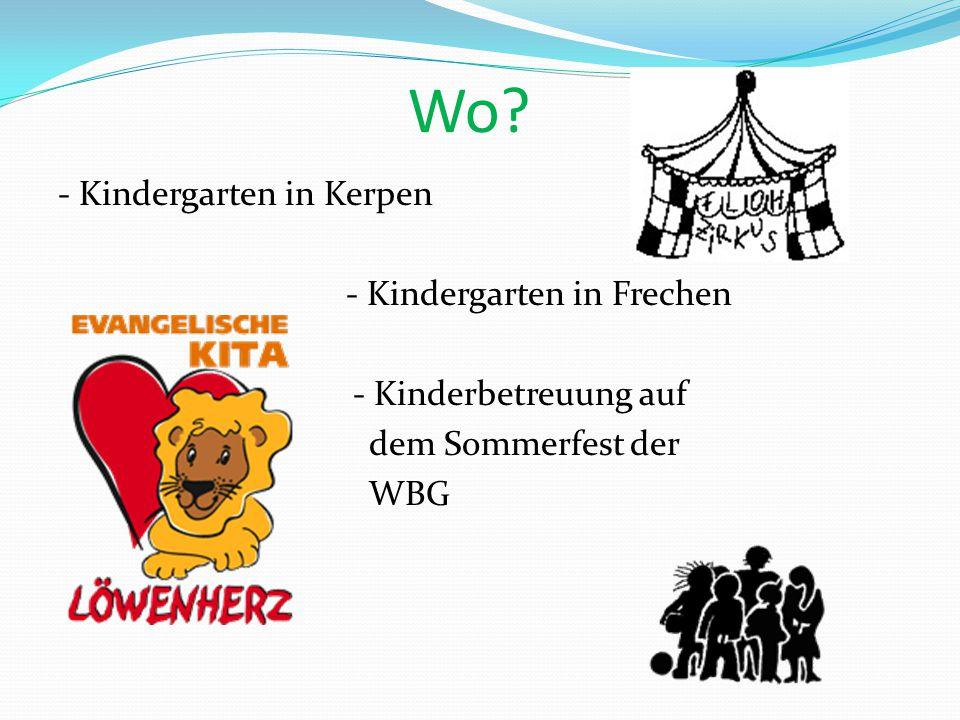 Wo? - Kindergarten in Kerpen - Kindergarten in Frechen - Kinderbetreuung auf dem Sommerfest der WBG