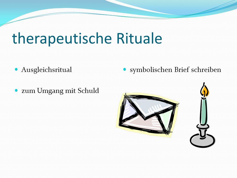 therapeutische Rituale Ausgleichsritual zum Umgang mit Schuld symbolischen Brief schreiben