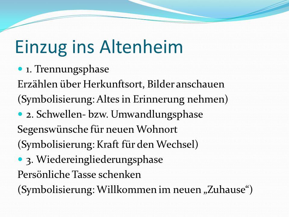 Einzug ins Altenheim 1.