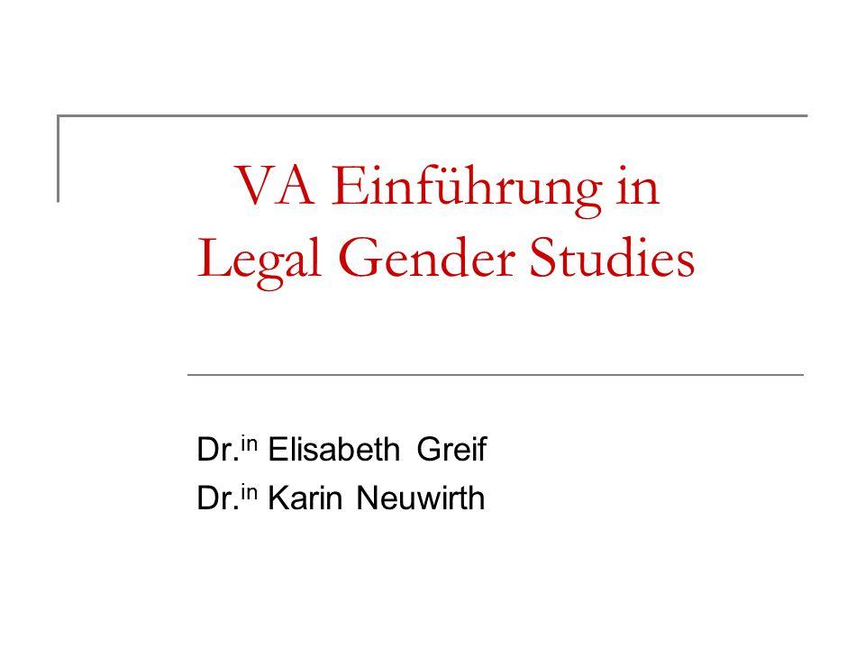 Feministische Rechtswissenschaft und ihre Methoden Artikel 7 B-VG (idF 1920) (1) Alle Bundesbürger sind vor dem Gesetz gleich.