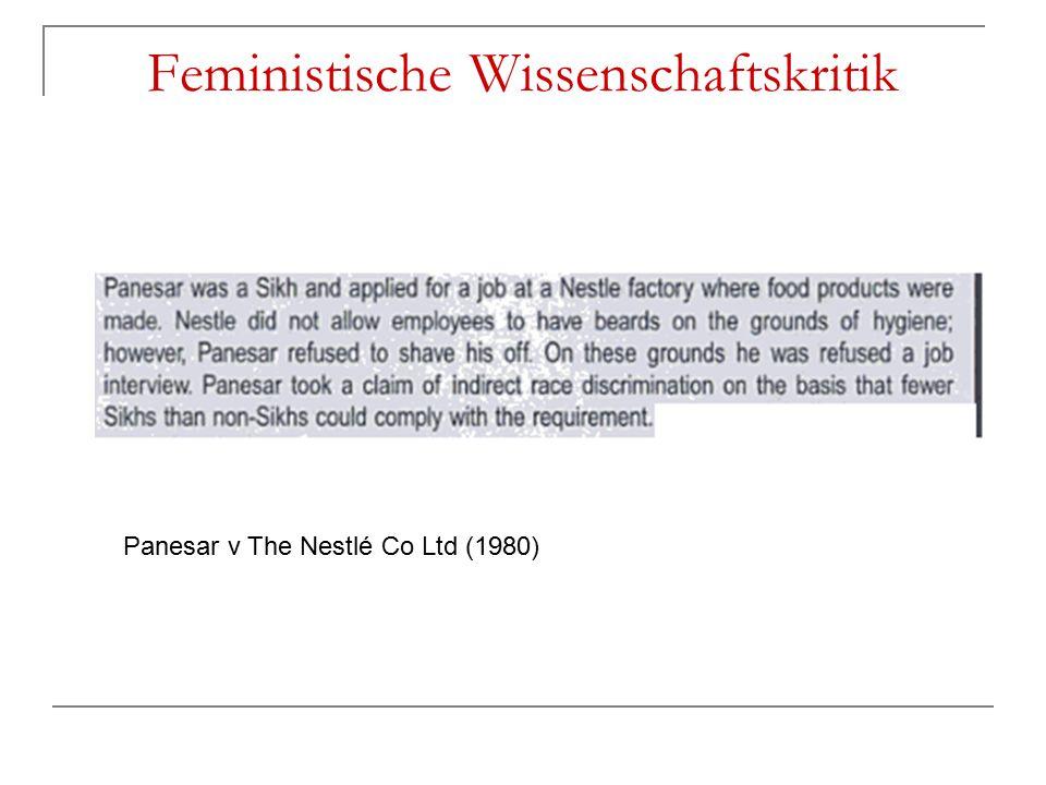 Feministische Wissenschaftskritik Panesar v The Nestlé Co Ltd (1980)