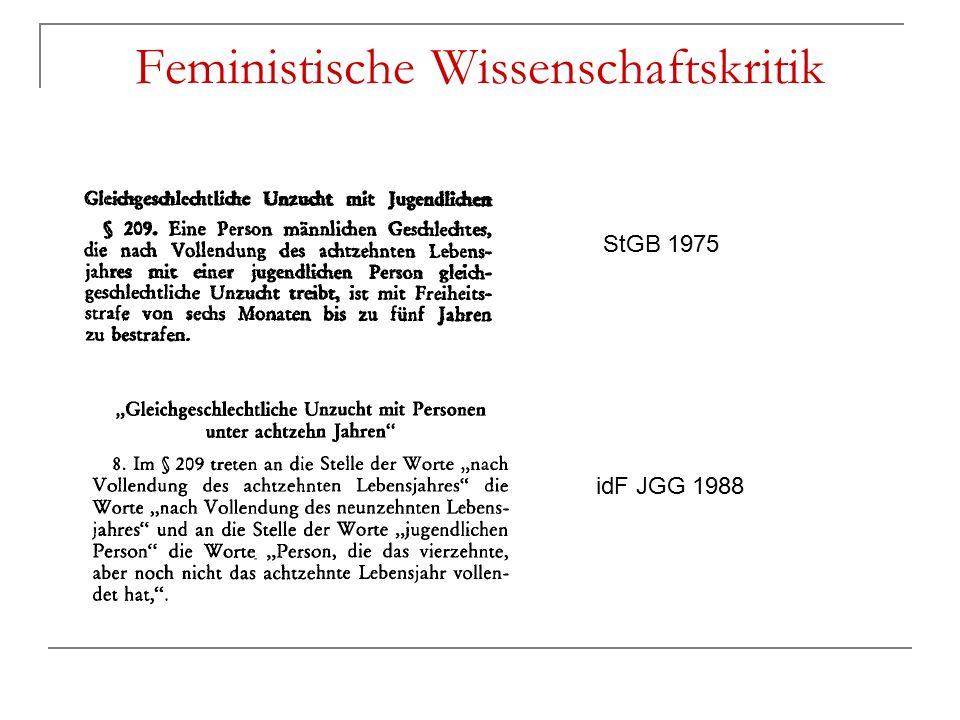 Feministische Wissenschaftskritik StGB 1975 idF JGG 1988