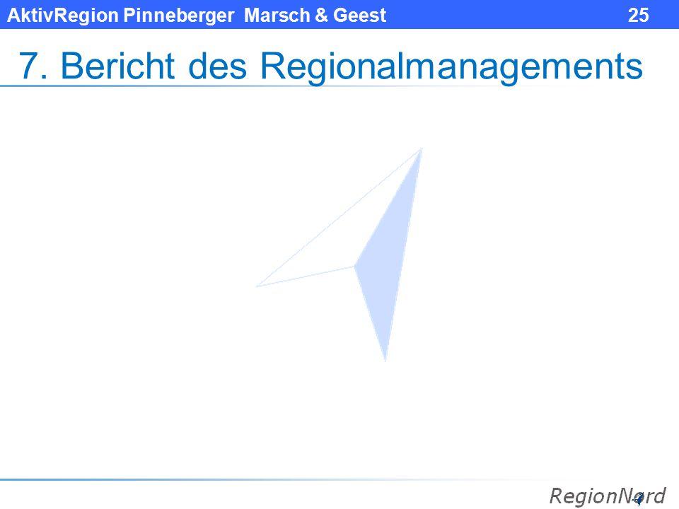 AktivRegion Pinneberger Marsch & Geest 25 7. Bericht des Regionalmanagements