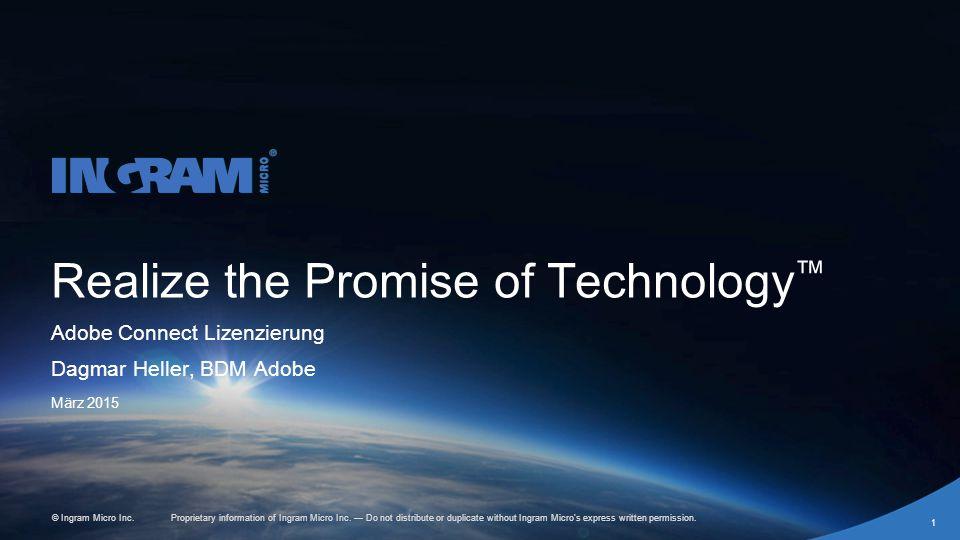 1405002 rev 6.27.14 Proprietary information of Ingram Micro Inc.