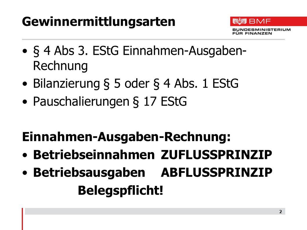 Betriebsausgaben § 4 Abs.