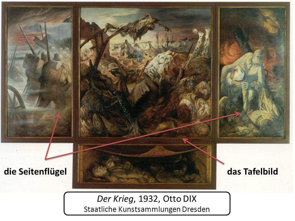 Der Krieg, 1932, Otto DIX Staatliche Kunstsammlungen Dresden die Seitenflügeldas Tafelbild