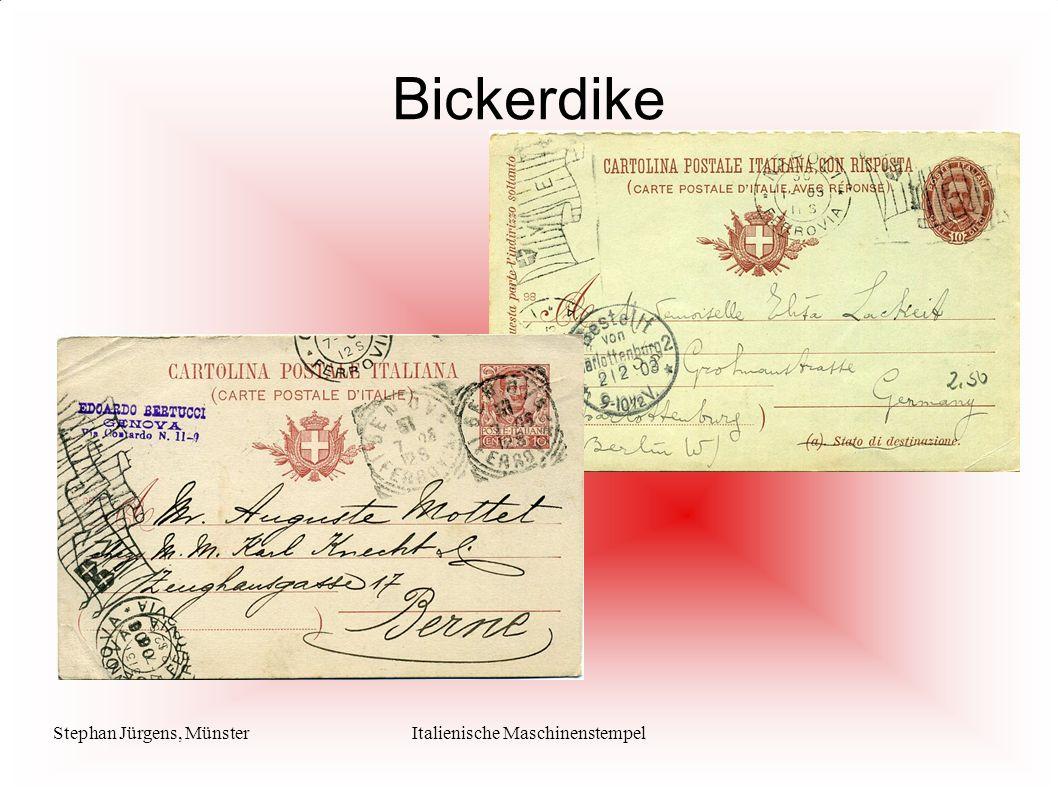 Stephan Jürgens, MünsterItalienische Maschinenstempel Bickerdike