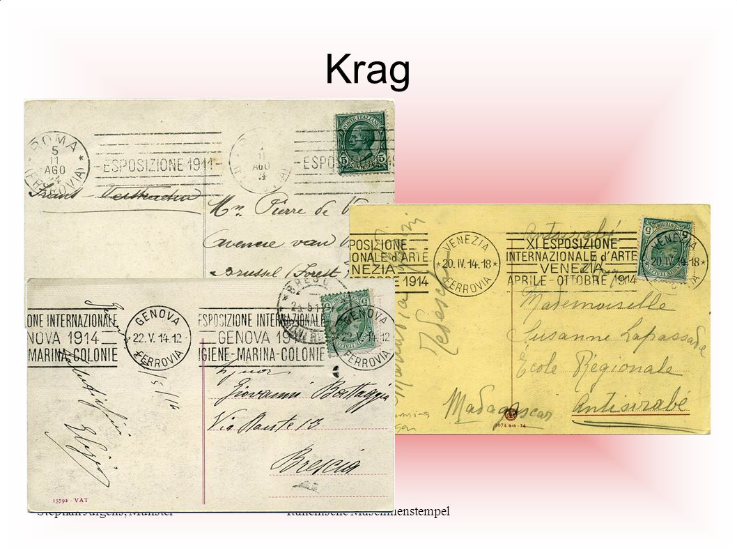Stephan Jürgens, MünsterItalienische Maschinenstempel Krag