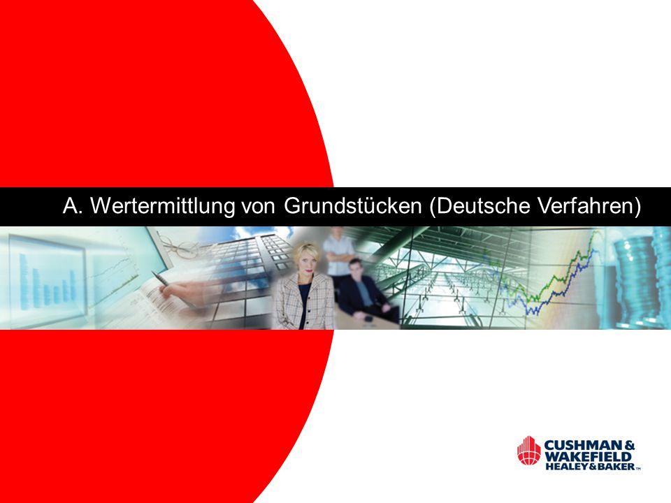 A. Wertermittlung von Grundstücken (Deutsche Verfahren)