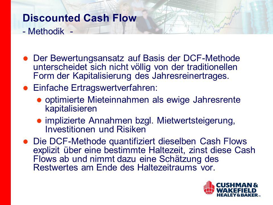 Discounted Cash Flow - Methodik - Der Bewertungsansatz auf Basis der DCF-Methode unterscheidet sich nicht völlig von der traditionellen Form der Kapitalisierung des Jahresreinertrages.