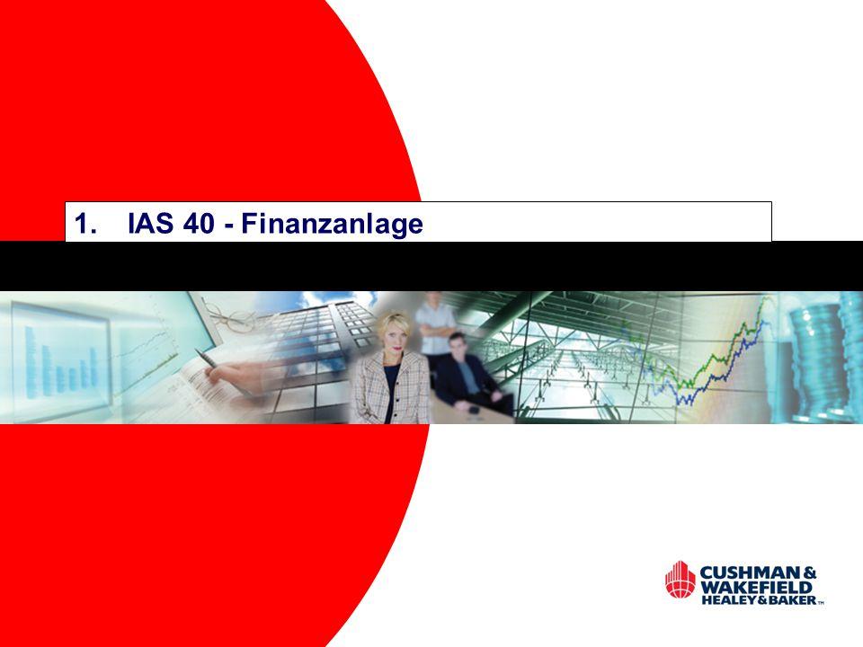 1.IAS 40 - Finanzanlage