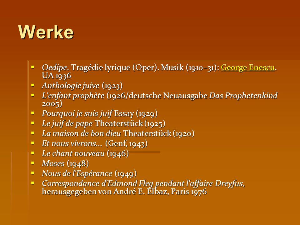 Werke  Oedipe. Tragédie lyrique (Oper). Musik (1910–31): George Enescu.