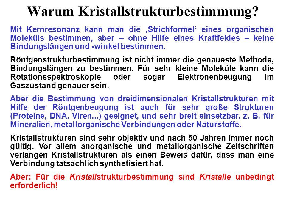 Nobelpreise für Kristallographen 1914 M.von Laue 1915 W.H.