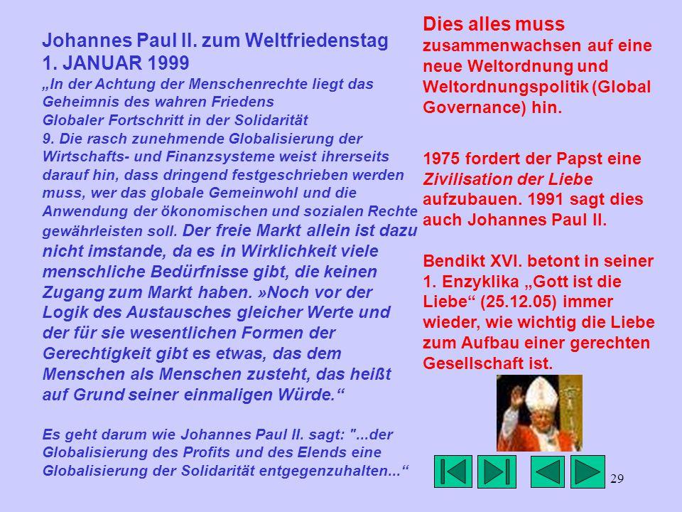 29 Johannes Paul II. zum Weltfriedenstag 1.