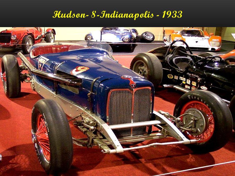 Hudson- 8-Indianapolis - 1933