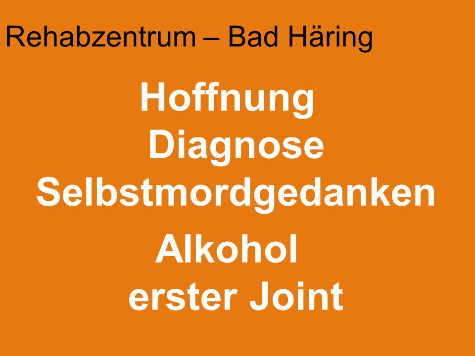 Rehabzentrum – Bad Häring Hoffnung Diagnose Selbstmordgedanken Alkohol erster Joint