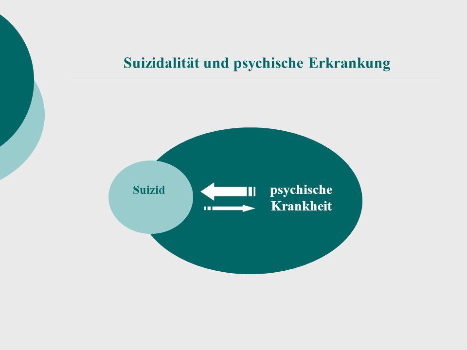 Suizidalität und psychische Erkrankung Suizid psychische Krankheit