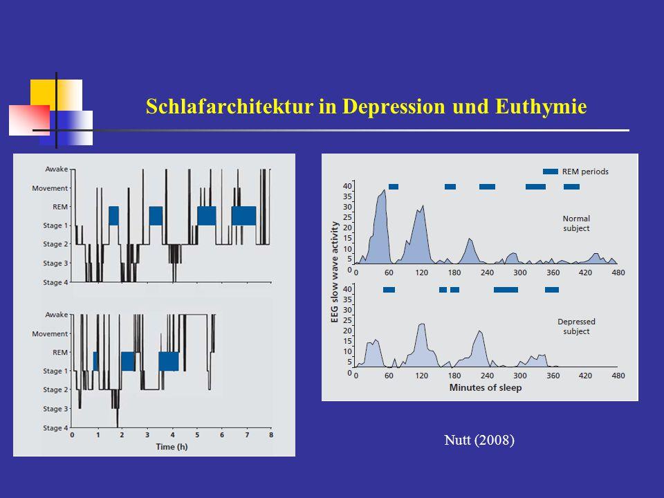 Schlafarchitektur in Depression und Euthymie Nutt (2008)