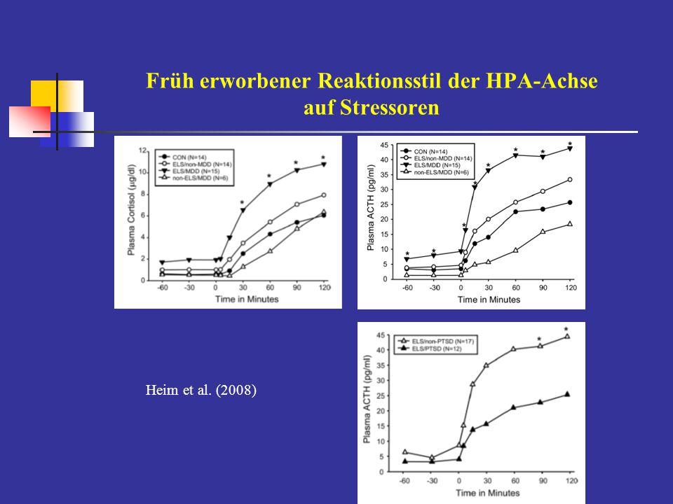 Früh erworbener Reaktionsstil der HPA-Achse auf Stressoren Heim et al. (2008)