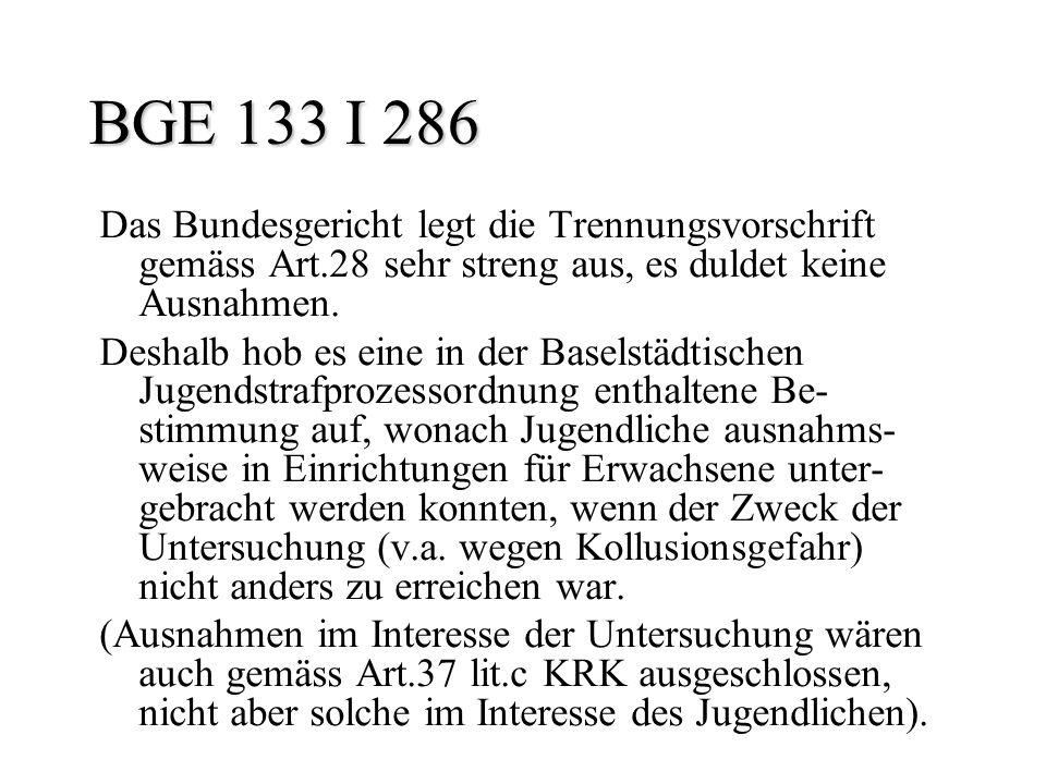 BGE 133 I 286 Das Bundesgericht legt die Trennungsvorschrift gemäss Art.28 sehr streng aus, es duldet keine Ausnahmen. Deshalb hob es eine in der Base