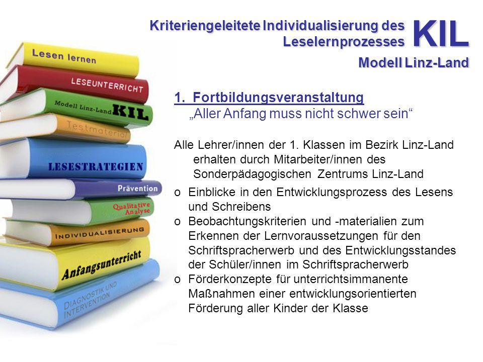 Kriteriengeleitete Individualisierung des Leselernprozesses 1.