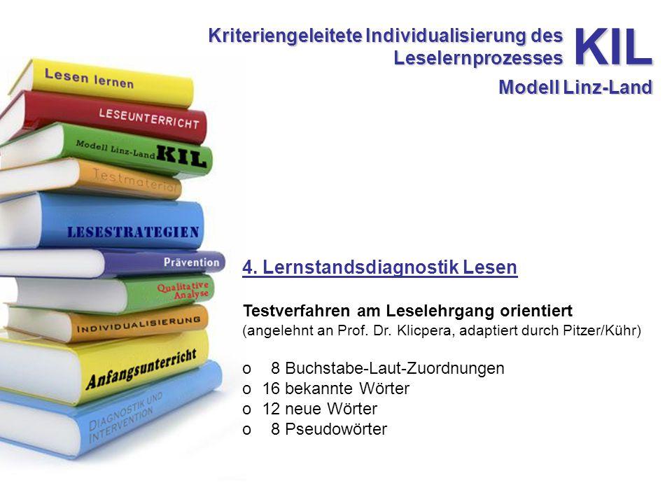 Kriteriengeleitete Individualisierung des Leselernprozesses 4.