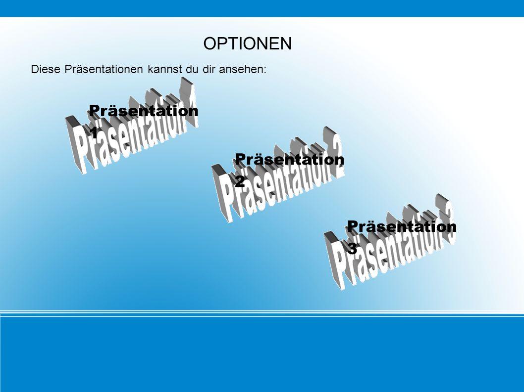 OPTIONEN Diese Präsentationen kannst du dir ansehen: Präsentation 1 Präsentation 2 Präsentation 3