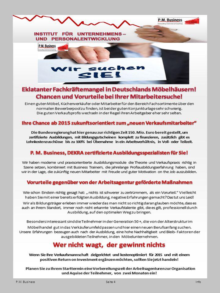 P.M. Business Seite 4 Info