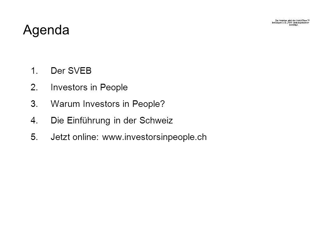 1.Der SVEB 2.Investors in People 3.Warum Investors in People.