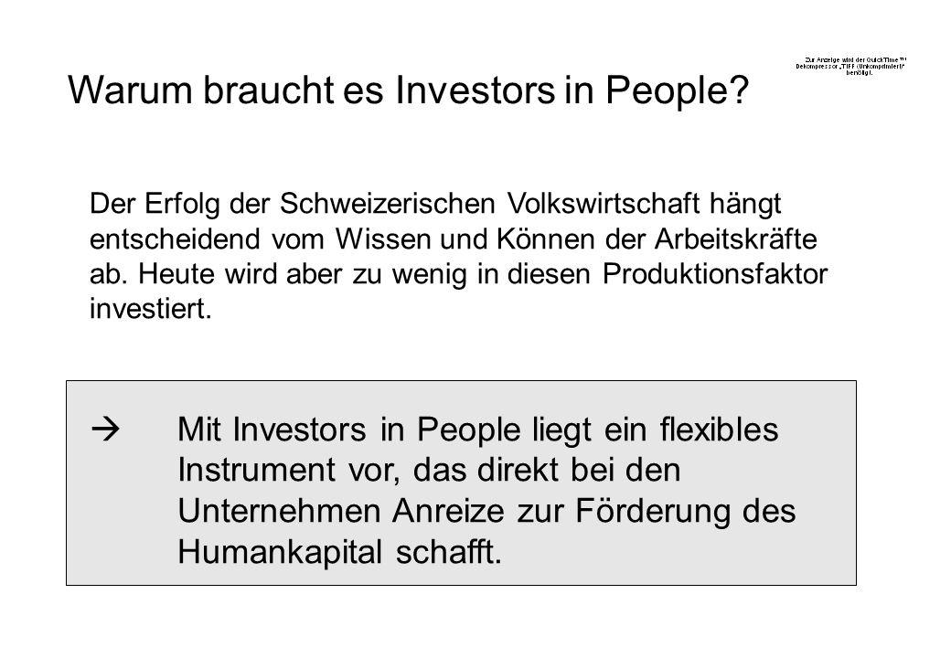 Einführung von IIP in der Schweiz und Liechtenstein Ziel ist der Aufbau einer tragfähigen Struktur, welche die Beratung und Begleitung von interessierten Organisationen und die unabhängige IIP Zertifizierung von Organisationen in der Schweiz und Liechtenstein ermöglicht.