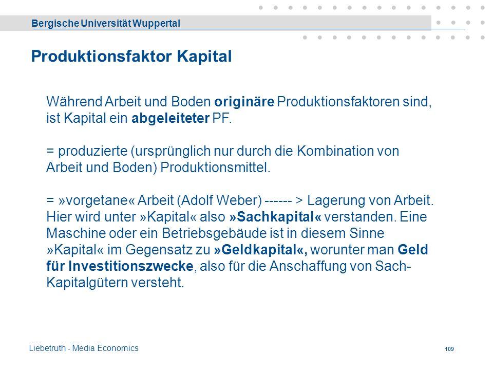 Bergische Universität Wuppertal Liebetruth - Media Economics 108 Kriterien der Standortwahl (FS) 5. Steuern- und prämienorientierte Standortwahl Durch