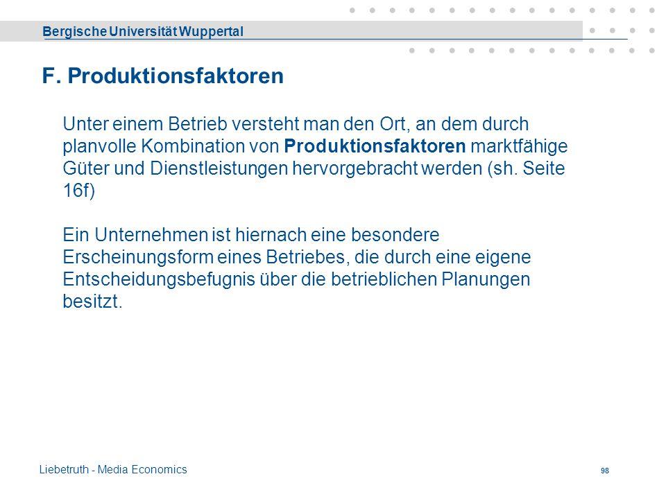 Bergische Universität Wuppertal Liebetruth - Media Economics 97 - Atypische Preis/Absatzfunktion Die Optimallösung liegt nun bei (12/4 ) statt vorher