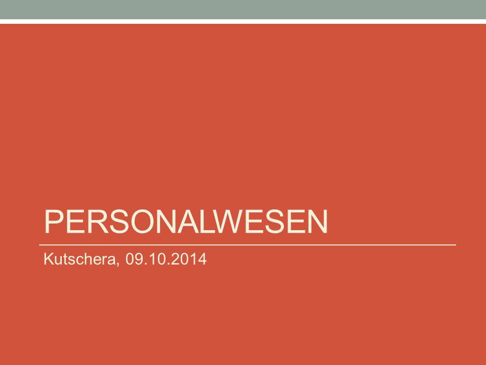 PERSONALWESEN Kutschera, 09.10.2014