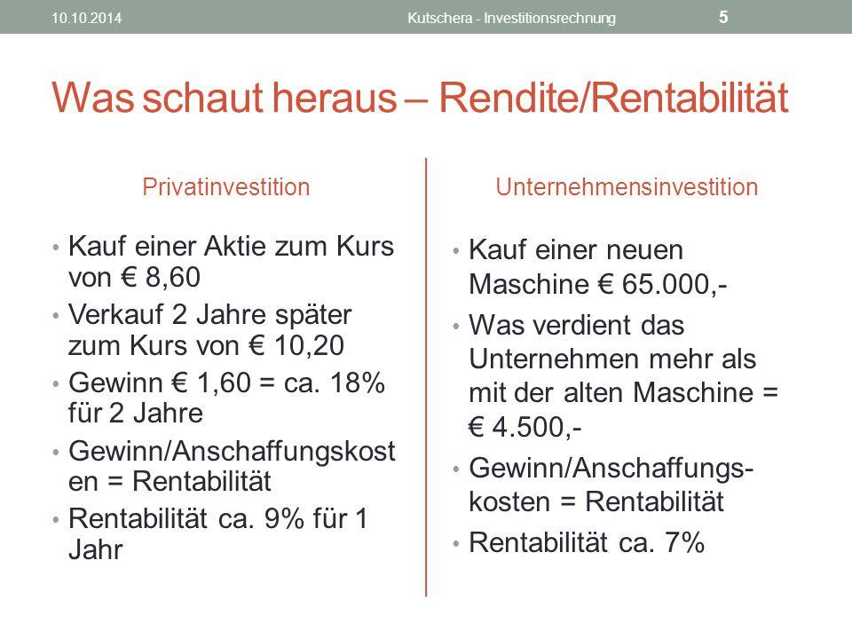 Was schaut heraus – Rendite/Rentabilität Privatinvestition Kauf einer Aktie zum Kurs von € 8,60 Verkauf 2 Jahre später zum Kurs von € 10,20 Gewinn € 1,60 = ca.